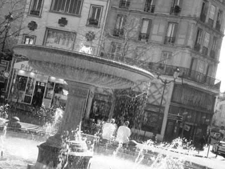 """Place Pigalle fountain in Paris the city of love - Montmartre"""