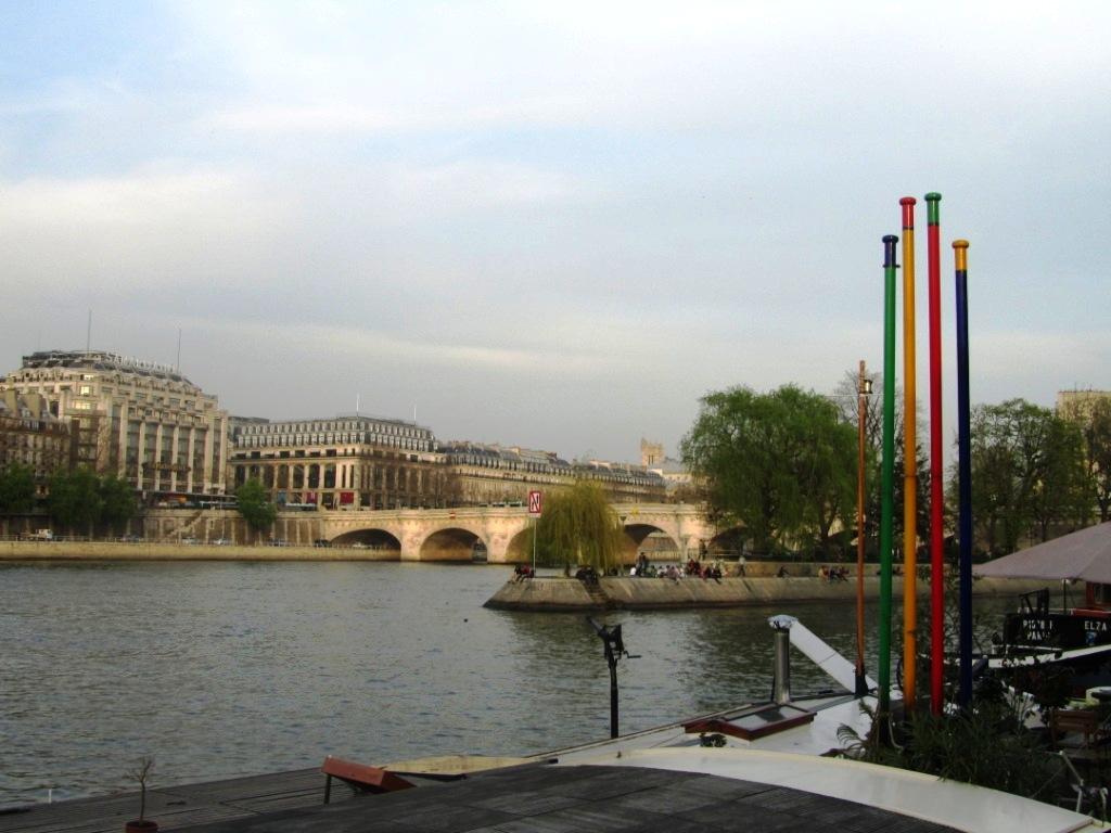 """Ile de la Cite by the River Seine in Paris"""