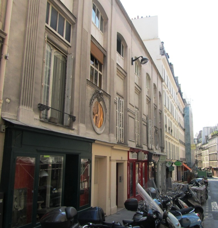 """Facade of one of former Paris brothels said to be Goering's favourite in rue St George"""