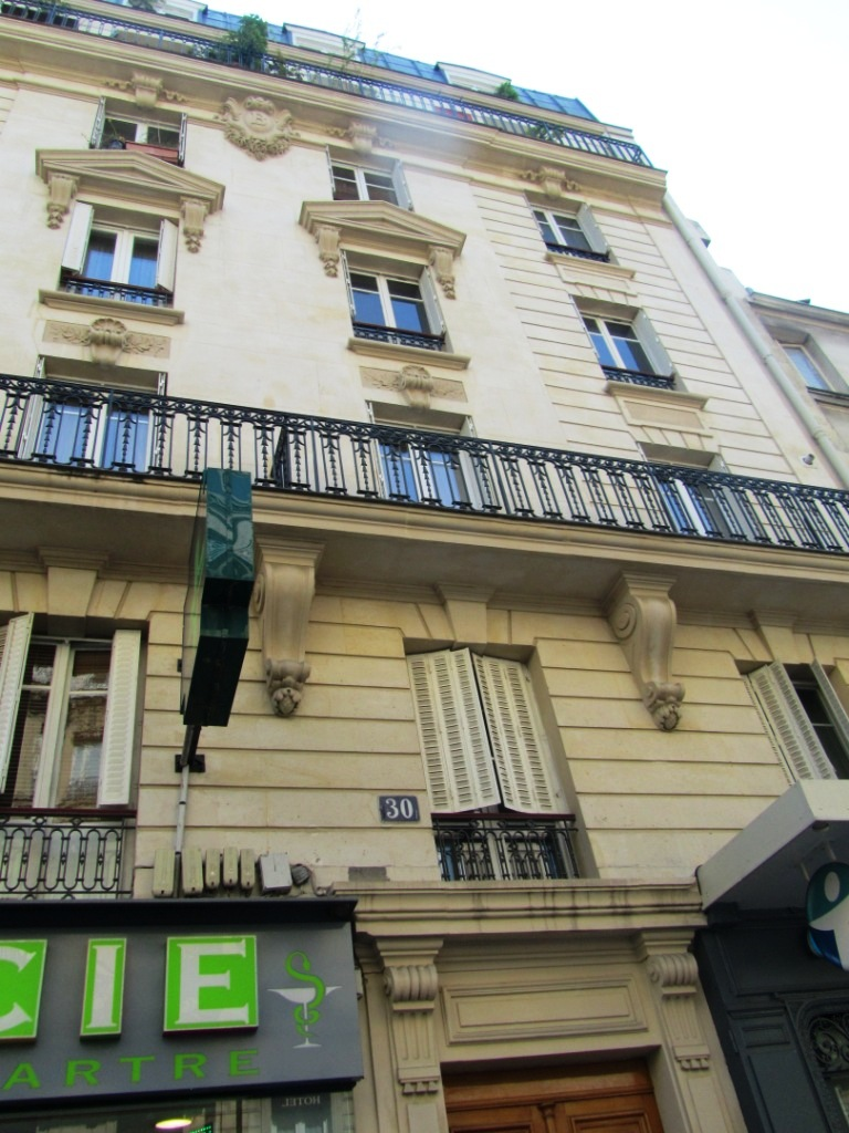 """One of former Paris brothels in Montmartre no. 30 rue Lepic"""