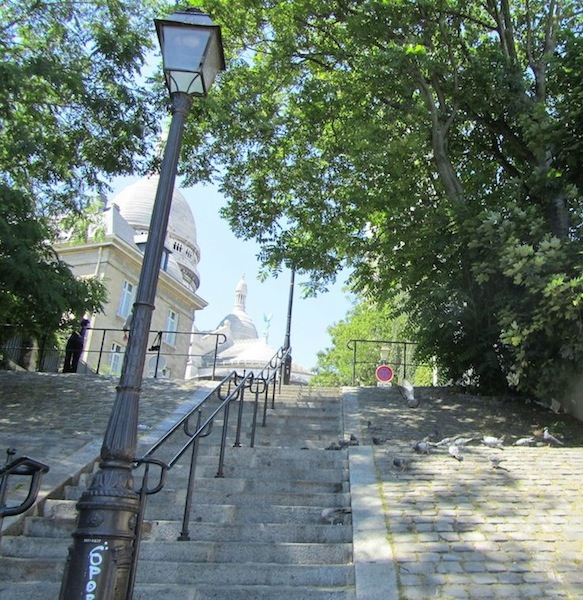 """Rue du Chevalier de la Barre stairway as in Midnight in Paris Montmartre"""