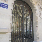 """Doorway at Ave. de Messine in Paris"""