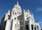 """The Sacre Coeur on the hill of Montmartre"""