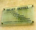 """plaque indicating which Beatniks stayed in Beat Hotel in Paris"""