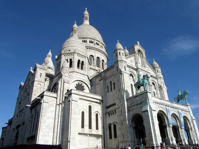 """The Sacre Coeur in Montmartre"""